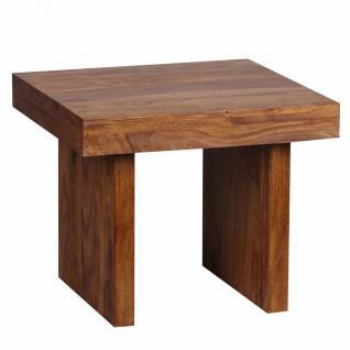 Massivholz Beistelltisch 60 x 60 x 48 cm Sheesham