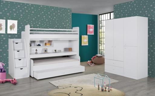 Jugendzimmer komplett mit Etagenbett Puzzle 7-teilig