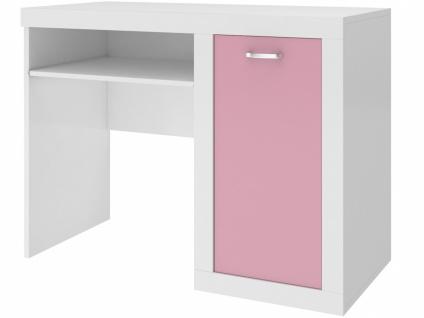 Kinderzimmer Schreibtisch Phil in Rosa Weiß