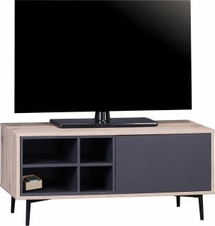 TV Unterschrank Anthrazit Mailbox
