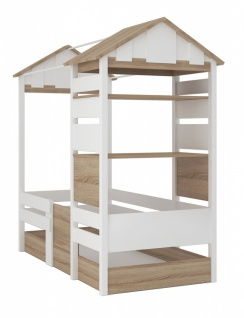 Almila Kinderbett mit Dach Loft Baby 90x190