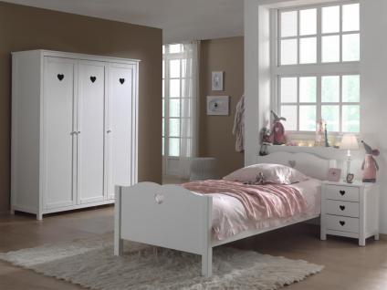 Kinderzimmer Set Albin 3- teilig in Weiß MDF