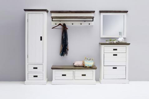 Seona Garderobenset 5-teilig in Akazie Weiß lackiert - Vorschau 1