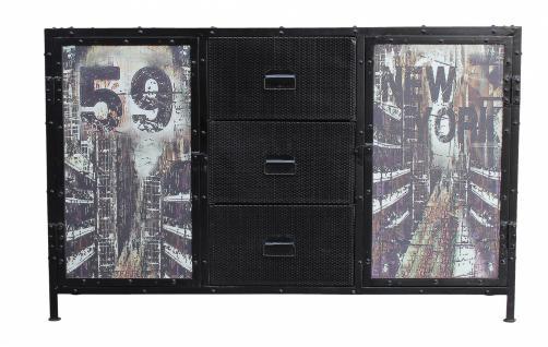 Sideboard Metall Ferra mit 2 Türen