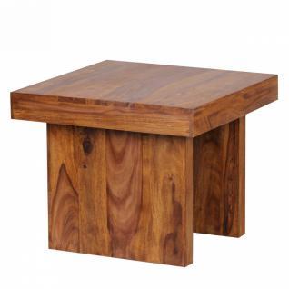 Massivholz Beistelltisch 60 x 60 x 48 cm Sheesham - Vorschau 3