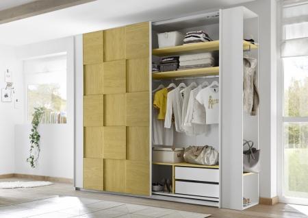 Design Garderobenregal Weiß Gelb Space 230cm