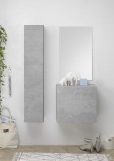 Garderobe mit Spiegel Veldig Beton Optik