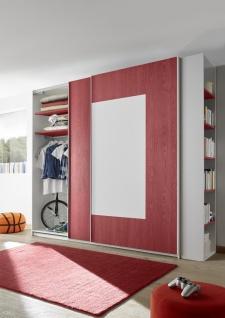 Schwebetürenschrank Space farbig Rot 243x230