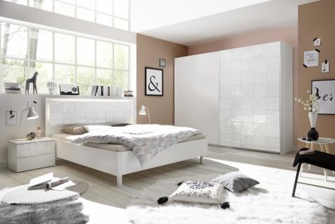 Schlafzimmer Set Weiß Hochglanz Xena 4-teilig