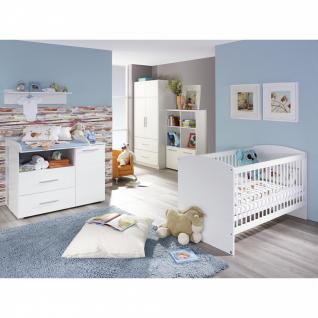 Babyzimmer MANJA 5-teilig Hochglanz weiß / alpinweiß
