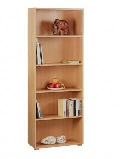 Anita Bücherregal mit 4 Böden mit Papierdekor