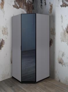 Eckkleiderschrank in Grau Corner mit verspiegelter Türe
