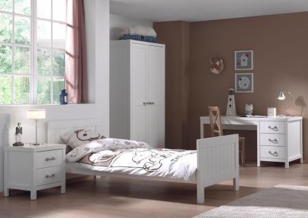 Mädchenzimmer Set Iny 4-teilig in Weiß MDF