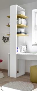 Design Regal mit drei Böden in Gelb Space