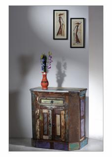 Kommode Melodin mit 2 Türen aus buntem Altholz