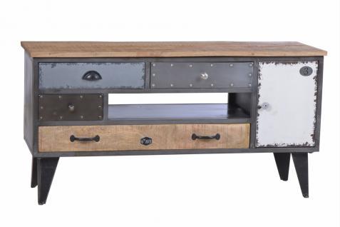 TV-Unterschrank Präter mit 4 Schubladen aus Metall