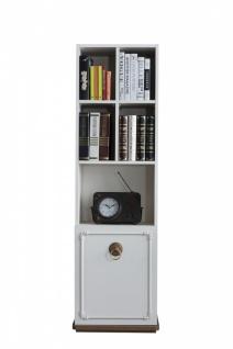 Jugendzimmer Bücherregal Boston mit Tür in Creme
