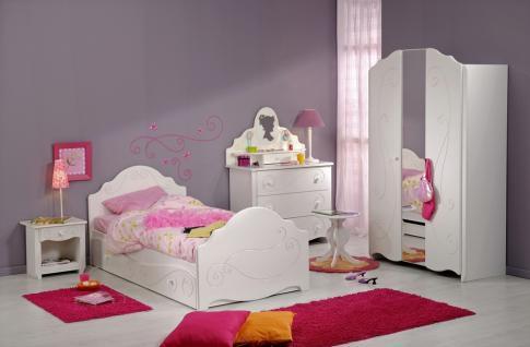 Jugendzimmer Set Alice Komplett 7-teilig weiß