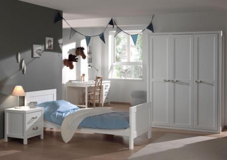 Jugendzimmer Set Iny 4-teilig in Weiß MDF