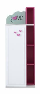 Mädchen Bücherregal Candy Young mit Tür in Weiß