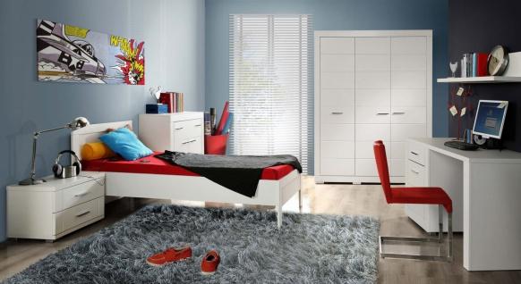 Kinderzimmer komplett Kimi 6-teilig in Weiß