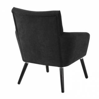 Sessel Jörn weicher Veloursstoff, schwarz