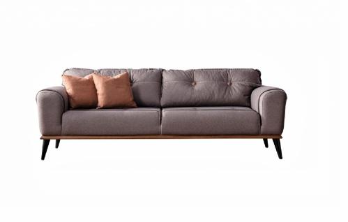 Design Wohnzimmer Schlafcouch Karaca in Grau