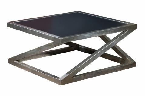 Couchtisch metall g nstig online kaufen bei yatego for Couchtisch 80x80 mit ablage