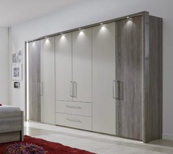 Kleiderschrank Delina in Trüffeleiche 150 cm mit Spiegeltüren