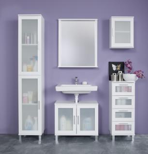 Badezimmer Set Lima 5-teilig in Weiß