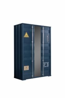 Odacix Kleiderschrank Container 3-türig in Blau