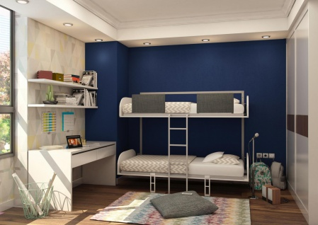 Multimo Etagenbett Simple mit klappbaren Wandbetten