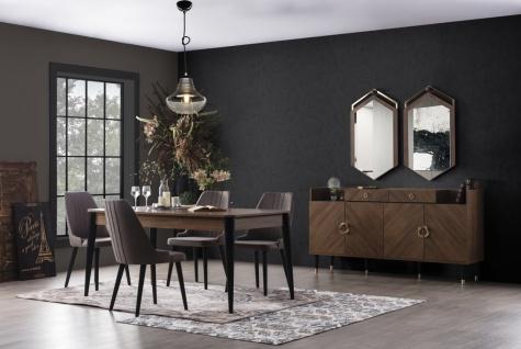 Modernes Esszimmer komplett Set 8-teilig Karaca
