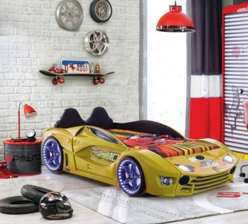 Kinderbett Autobett mit Bluetooth Drift Gelb FULL