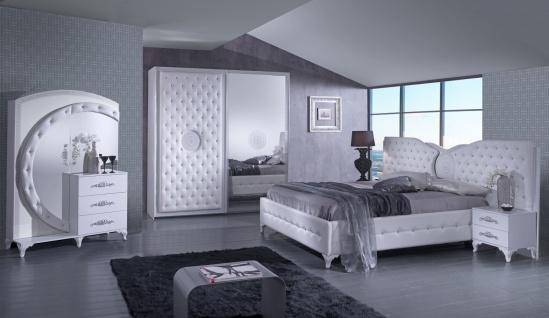 Design Schlafzimmer Set in Weiß Natalia 4-teilig