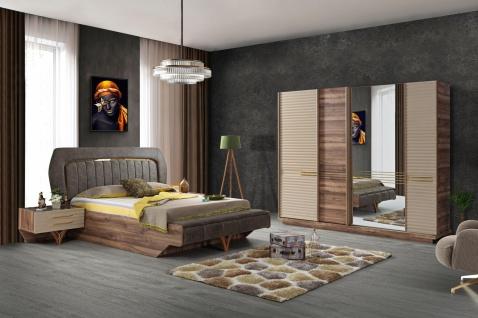Schlafzimmer Set Tower mit Stauraumbett in Holzoptik