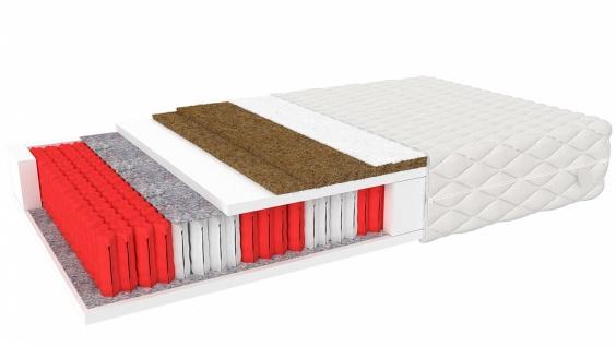 Taschenfederkernmatratze mit Kokos Gerado 100x200