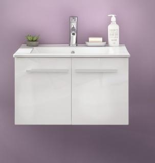 Waschtisch Jena mit Waschbecken in Weiß Hochglanz