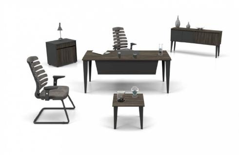Büroeinrichtung Holz Optik Icono 3-teilig 120x70