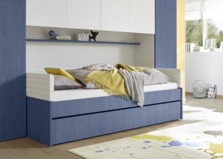 Jugendbett Space ohne Polsterung Blau 90x200