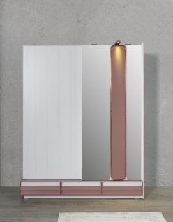 Schiebetüren Kleiderschrank Rosi mit LEDs und Spiegel