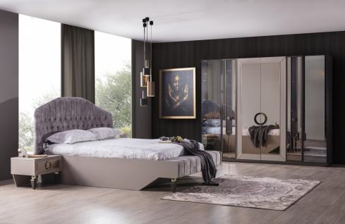 Schlafzimmer komplett Set Lizbon mit Kleiderschrank