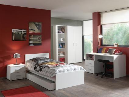 Jugendzimmer- Set Pinja 6-teilig in Weiß