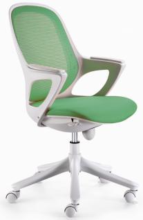 MAGLO Bürostuhl Grün / Weiß mit WinTEX Stoff Bezug, Drehstuhl bis 120kg