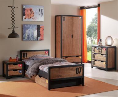 Jugendzimmer Set Nils 4-teilig in Kiefer massiv
