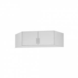 Eckschrankaufsatz CELLE weiß / alpinweiß 117 x 39 x 117 cm