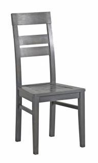 Stuhl Tare 2-er-Set Massiv-Teilmassiv grau eiche