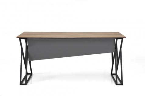Ovali Schreibtisch 2-beinig Buton Schwarz 140x80x75