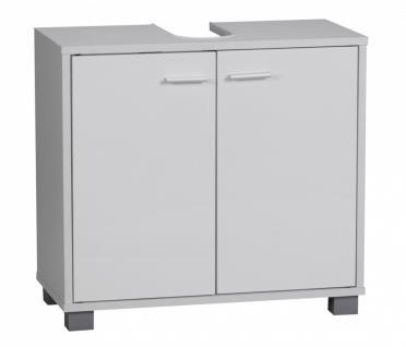 Bad Waschbecken Unterschrank 60 x 55 x 30 cm 2 Türen weiß