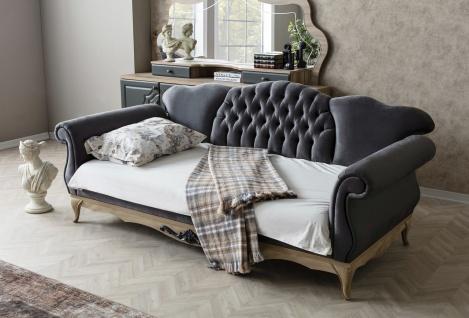 Sofa Balat 2-Sitzer mit Schlaffunktion in Schwarz - Vorschau 3